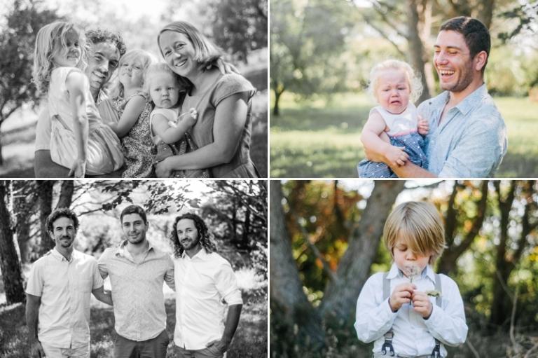 Seance photo famille à Roquemaure dans le Gard à côté d'Avignon