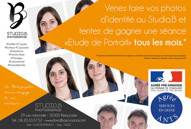 PHOTO IDENTITE STUDIO B PHOTOGRAPHE BEAUCAIRE