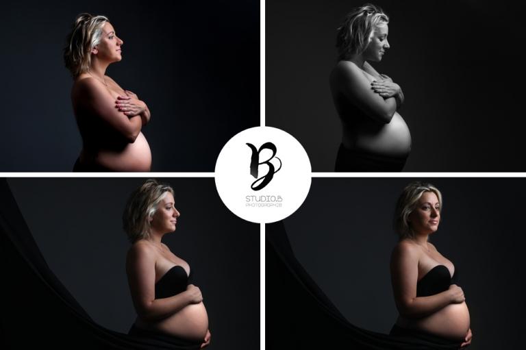 Studio B à Beaucaire, Séance photo grossesse, photographe femme enceinte, futur maman