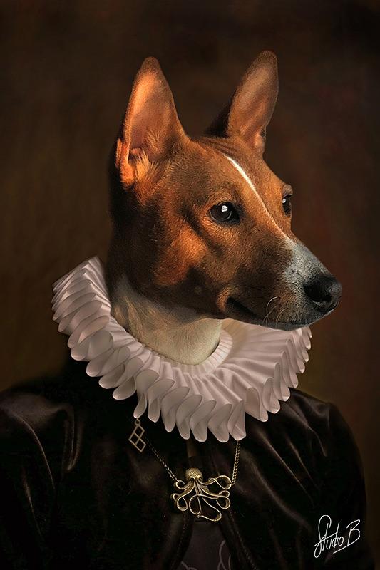 Portrait animaux façon peinture renaissance