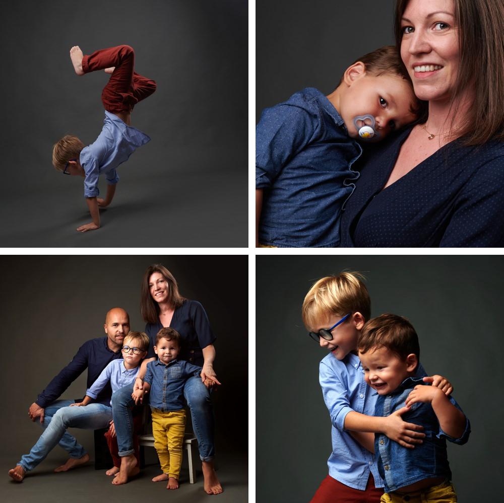 séances photo en famille au studio B à beaucaire