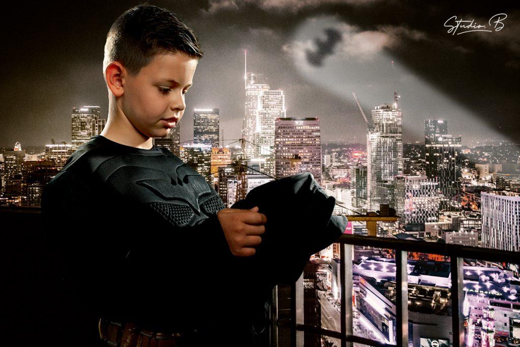 portraits d'enfants en super heros